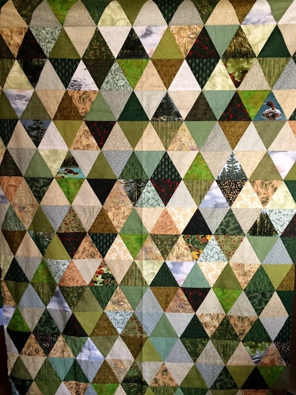 wip2 - A Walk in the Forest quilt